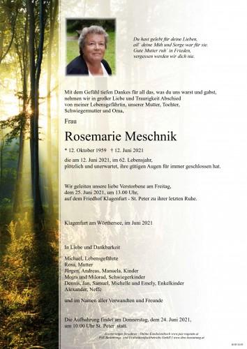 Rosemarie Meschnik