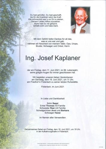 Ing. Josef Kaplaner