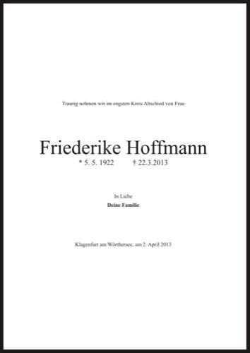 HOFFMANN Friederike