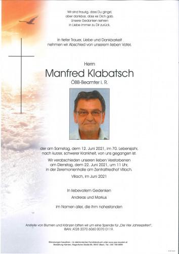 Manfred Klabatsch