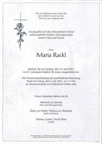 Maria Rackl