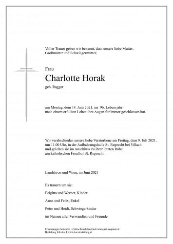 Charlotte Horak, geb. Ragger