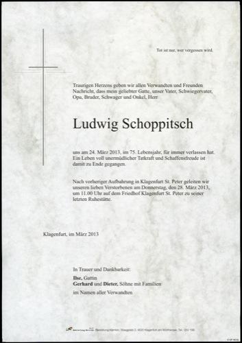 SCHOPPITSCH Ludwig