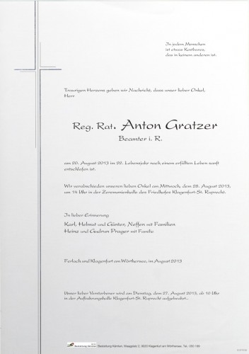 Anton Gratzer