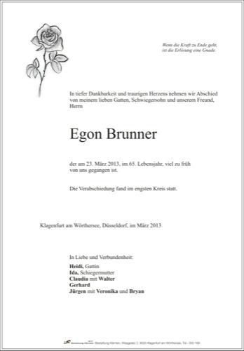 BRUNNER Egon
