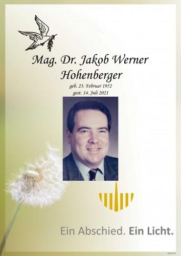Mag. Dr. Jakob Werner Hohenberger