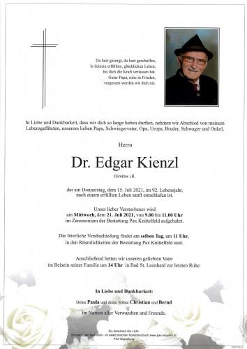 Dr. Edgar Kienzl