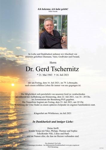 Dr. Gerd Tschernitz
