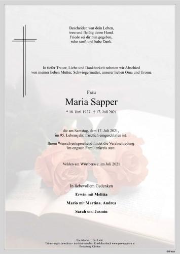 Maria Sapper
