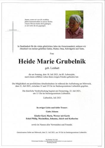 Heide Marie Grubelnik  geb. Lenhart