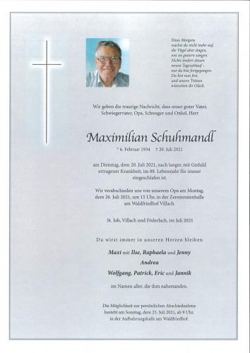 Maximilian Schuhmandl