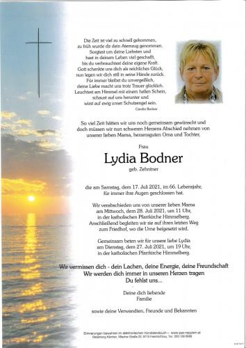 Lydia Bodner, geb. Zehntner