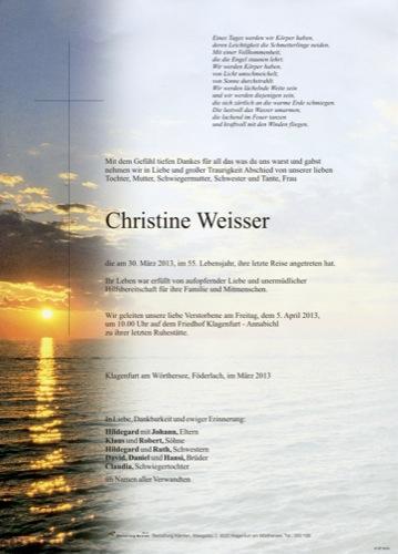 WEISSER  Christine
