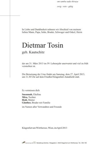 TOSIN Dietmar