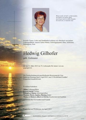 GILHOFER Hedwig