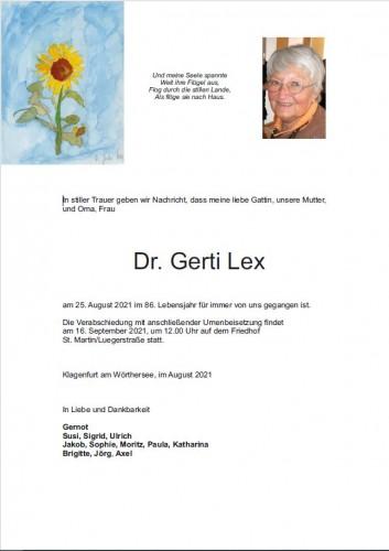 Dr. Gerti Lex