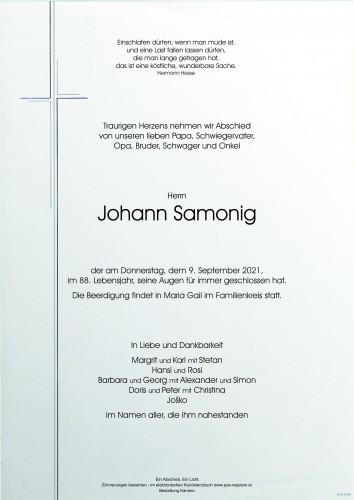 Johann Samonig