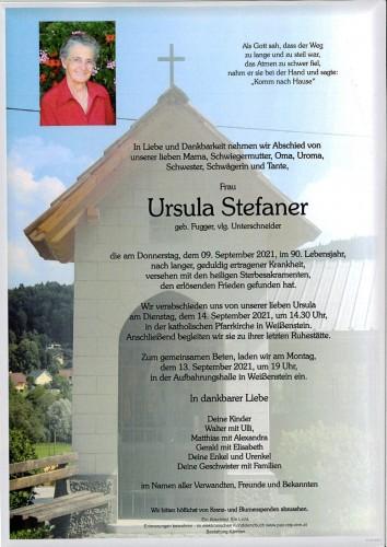 Ursula Stefaner, geb. Fugger