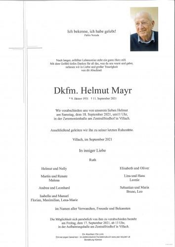 Dkfm. Helmut Mayr