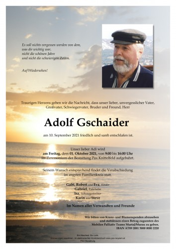 Adolf Gschaider