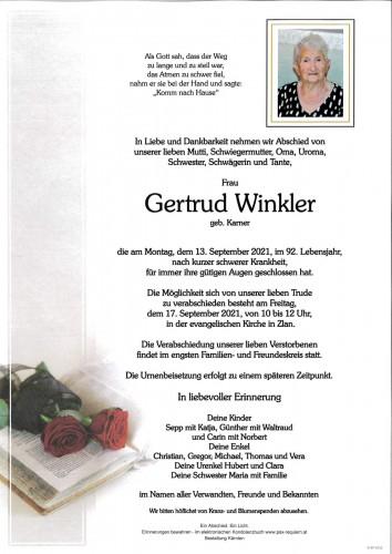 Gertrud Winkler, geb. Karner