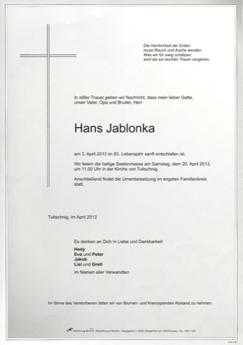 JABLONKA Johann