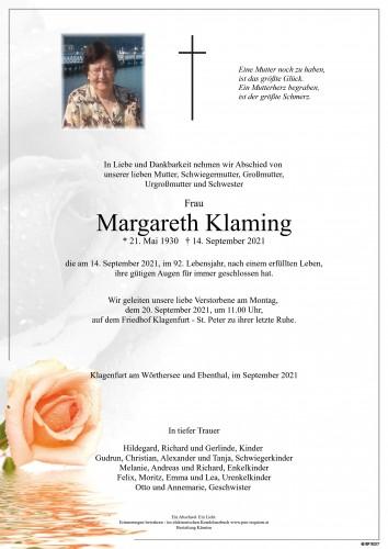 Margareth Klaming
