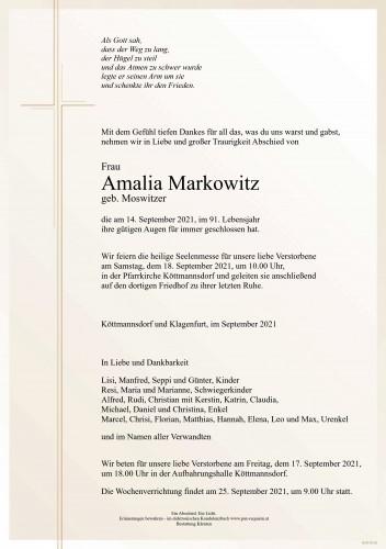 Amalia Markowitz
