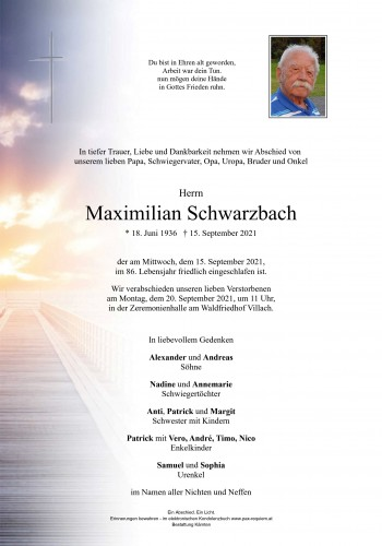 Maximilian Schwarzbach