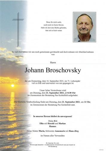 Johann Broschovsky