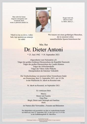 Dr. Dieter Antoni