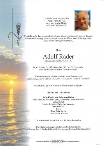 Adolf Rader