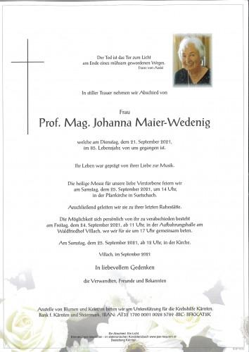 Prof. Mag. Johanna Maier-Wedenig