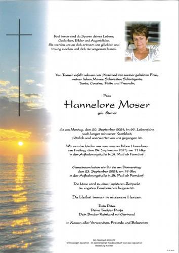 Hannelore Moser, geb. Steiner