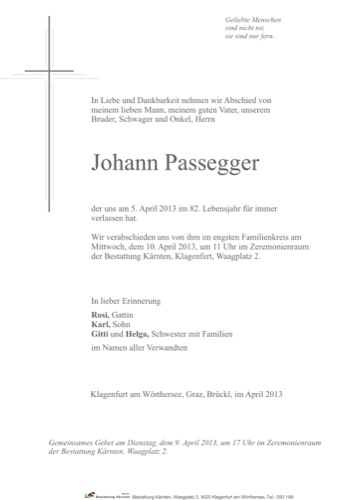 PASSEGGER Johann