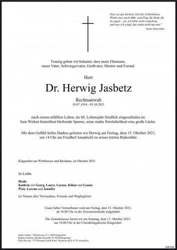 Dr. Herwig Jasbetz