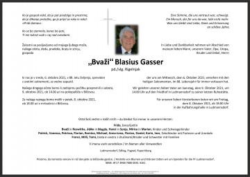 """""""Bvaži"""" Blasius Gasser"""