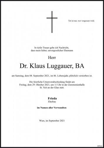 Dr. Klaus Luggauer BA