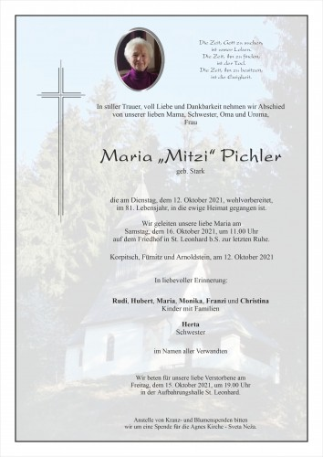 Maria Pichler, geb. Stark