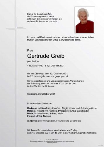 Gertrude Greibl
