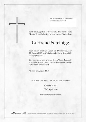 Gertraud Sereinigg