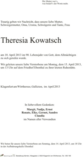 KOWATSCH Theresia