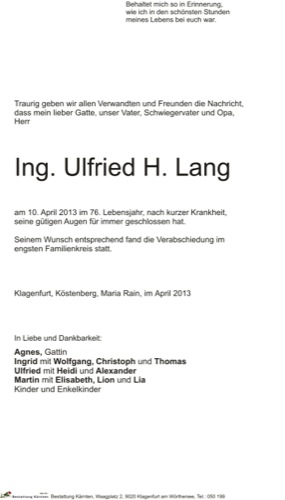 LANG Ulfried