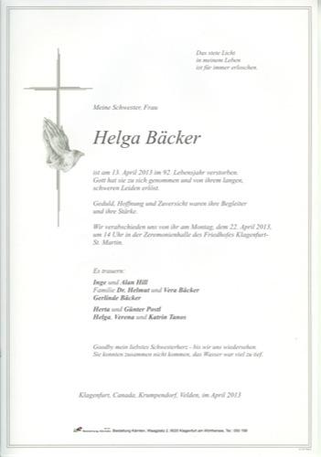 BÄCKER Helga