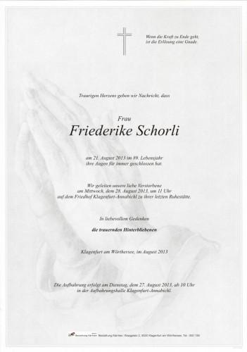 Friederike Schorli