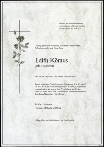 KÖRAUS Edith