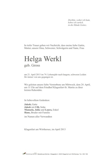 WERKL Helga
