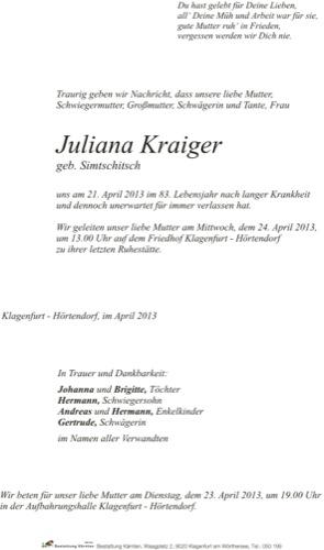 KRAIGER Juliana