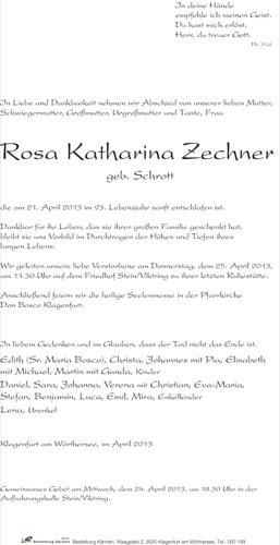 ZECHNER Rosa Katharina