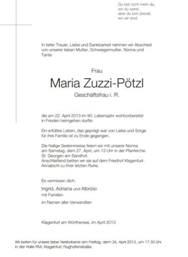 ZUZZI-PÖTZL Maria